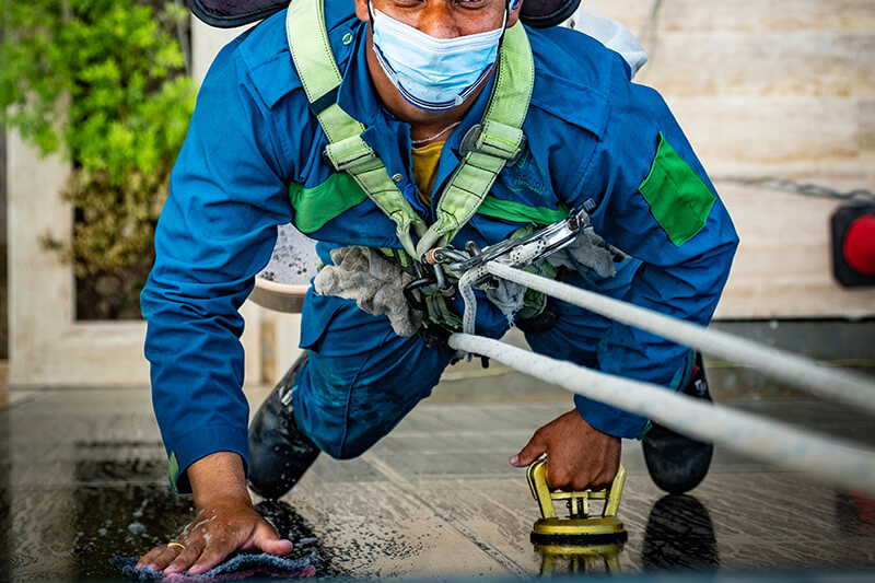 Outdoor Glass Cleaning Service Muscat
